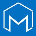 white in blue logo